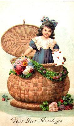 Винтажные открытки с Новым годом (Vintage New Year Cards). Комментарии : LiveInternet - Российский Сервис Онлайн-Дневников