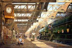 Fine Art Prints of Railway Scenes & Train Portraits - On Time by Philip Hawkins FGRA