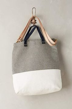 Clare V Mathilde Stripe Convertible Tote - anthropologie.com