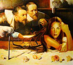 "Saatchi Online Artist Marco Ortolan; Painting, "".The Antomy Lesson"" #art"