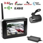 Security 2.4G 3.6Inch Monitor 2.5mm Lens Back Up Camera Wireless Car Rear View System