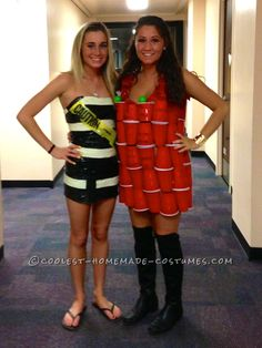 Coolest ABC Party Dress Made Out of Solo Cups and Shopping Bags... This website is the Pinterest of costumes