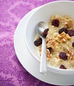 Quinoa Porridge ~ make it dairy free by using So Delicious Coconut Milk or Almond Milk