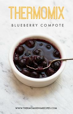 A healthy and delicious Thermomix Blueberry Compote which is ready in next to no time.