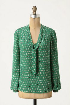 Anthropologie Dots Within Blouse