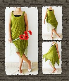 Soft Green Sweet Dress Cotton by thaichaiangraicotton on Etsy, $30.00