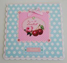 Cottage chic Thank You card by picocrafts on Etsy, $3.80
