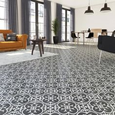 🌟 💖 🌟 💖 Main Destination:Inland Destination of the tiling:Floor and wall . Tile Floor Living Room, Remodel, Deco, Home Remodeling, New Homes, Cement Tile, Bathroom Design Layout, White Tile Floor, Living Room Designs