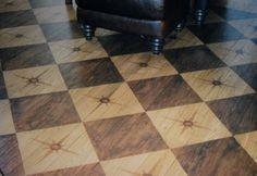 painted plank floors harlequin design | Hardwood flooring painting snapfiction home and garden Hardwood ...