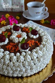 Barbi konyhája: Cseresznyés csokoládétorta Waffles, Birthday Cake, Sweets, Breakfast, Food, Pasta, Morning Coffee, Birthday Cakes, Good Stocking Stuffers