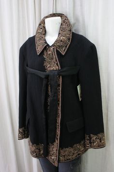 Dries Van Noten Wool Embroidered Coat. REALLY beautiful fashion item. Small