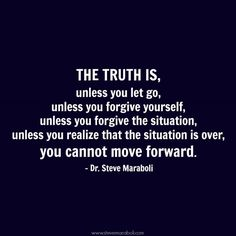 Steve Maraboli Quote about moving on.  www.livingblissed.com