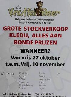 Stockverkoop De Knuffelbeer -- Temse -- 27/10-10/11
