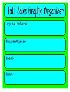 Tall Tale Graphic Organizer