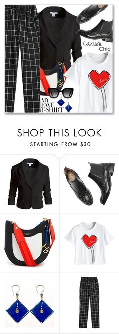 """""""Dress Up a T-Shirt (Casual Chic)"""" by jecakns ❤ liked on Polyvore featuring Sans Souci, Henri Bendel and Gucci"""