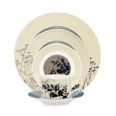 Twilight Meadow Dinnerware by Noritake ~ I REALLY like this one. Tempted to design my kitchen/dining room around it actually. Square Dinnerware Set, Dinnerware Sets, China Dinnerware, Plastic Dinnerware, Porcelain Dinnerware, Design My Kitchen, Gourmet Garden, Dining Ware, Kitchen Dining