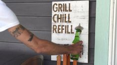 DIY Grill Sign + Hanging Storage>> http://www.hgtv.com/videos/diy-outdoor-grilling-caddy-0266843?soc=pinterest