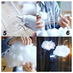 PROLOSO Handmade DIY Kit Easy for Adults and Kids Wireless Remote Control Adjustable Brightness 9 Modes White/Warm White Light Cute Night Light in House and Coolest Choice Cloud Lights, Diy Cloud Light, Cloud Diy, Cute Night Lights, Diy Projects For Bedroom, Diy Bedroom, Cloud Bedroom, Art Projects, Diy And Crafts