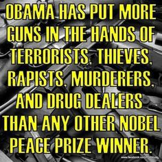 Is there anyone less deserving of a Nobel Peace Prize?  I wonder how much he paid or what he had to give away that belonged to the American people...