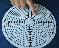 Art Therpay Directives Using Finger Labyrinths Labyrinths have been used to aid in worship and mediation since the Middle Ages. A labyrinth is different than a maze in that there is one path that leads right to the center, no dead ends, no misl… Art Therapy Projects, Art Therapy Activities, Therapy Tools, Play Therapy, Therapy Ideas, Trauma Therapy, Behavioral Therapy, Group Activities, Sensory Activities