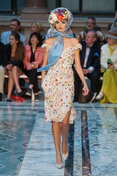 Vivienne Westwood SS 13... I would not mind going out dressed like this. So beautiful!