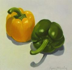 "Daily Paintworks - ""Bell Peppers"" - Original Fine Art for Sale - © Karen…"