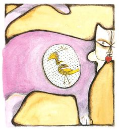 Chat à la manière de... Paul Klee