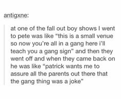 Fall Out Boy gang. Emo Band Memes, Emo Bands, Music Bands, Fall Out Boy, Soul Punk, Pete Wentz, Panic! At The Disco, Paramore, Green Day