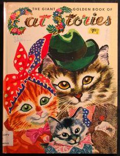 'CAT STORIES'  Giant Golden Book 1953, ill. Feodor Rojankovsky