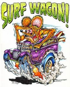 Ed Roth Original Art | Johnny Ace Original Monster Art Rat Fink Ed Big Daddy Roth Panel Truck