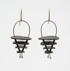 Selma Earrings by Kathleen Nowak Tucci: Rubber Earrings available at www.artfulhome.com