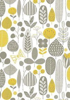 30 ideas nature pattern design grey for 2019 Motifs Textiles, Textile Patterns, Textile Design, Fabric Design, Print Patterns, Graphic Patterns, Surface Pattern Design, Pattern Art, Scandinavian Pattern