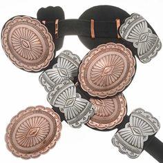 Copper Silver Concho Belt 20018 | Alltribes