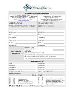wedding ceremony checklist | Steps For A Better Florist Wedding ...