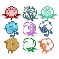Cotton Monogram Svg Cuttable Design Frames
