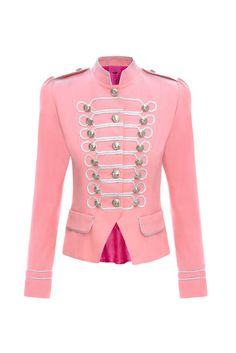 Condesa Beatle Rosa #lacondesa #silver #soutage #aristocratic #fashion #militaryinspiration #pink