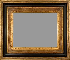 """Beautiful Picture Frame! Perfect For Artwork, Photographs, Canvas Paintings, Oil Paintings, Watercolor Paintings, Acrylic Paintings, Portraits, Wedding Pictures, Diplomas, Family Photographs & More. Museum Style Black & Gold 5.5"""" Wide Picture Frame."""