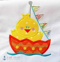 Sailing Chick Applique - 3 Sizes! | Boats | Machine Embroidery Designs | SWAKembroidery.com  East Coast Applique