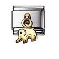 Nomination Elephant charm, 2K Gold Pendant | Contemporary Jewellery at Affordable Prices | Xen Jewellery Design