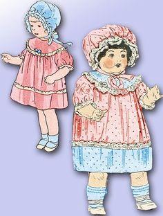 "1920s Butterick Original 20"" RARE Doll Clothes Pattern Very Special Treasure | eBay"