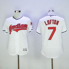 bff59e453 Men Cleveland Indians 7 Kenny Lofton White Elite MLB Jerseys