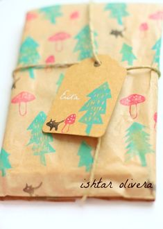 woodland stamps wrap