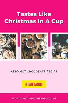 Is it cold enough yet for keto hot chocolate? You know, a creamy cozy holiday-style drink that's low carb, sugar-free, and fabulous? Find it here...#wtym #hotcocoa #chocolate #recipe #keto #dessert Healthy Recipes For Weight Loss, Good Healthy Recipes, Clean Eating Recipes, Keto Recipes, Best Crockpot Recipes, Fall Recipes, Keto Hot Chocolate Recipe, Word To Your Mother, Keto On A Budget