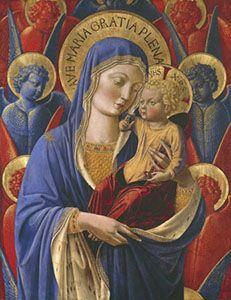 Benozzo Gozzoli - Madonna col Bambino - dipinto devozionale - Institute of Arts, Detroit.