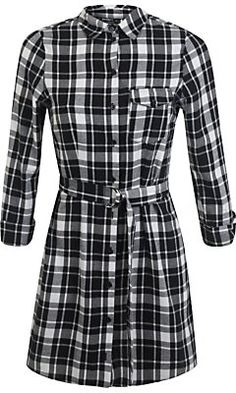 Pin for Later: It's Time to Check Off Your Go-To Dress From Your Autumn Wish List Miss Selfridge Petites Check Shirt Dress Miss Selfridge Petites Check Shirt Dress (£31)
