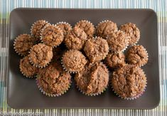 Apple Sauce, Prune and Milled Flaxseed Muffins. These are great for everyone but kids love them. I made these to help my chronically constipated little boy.