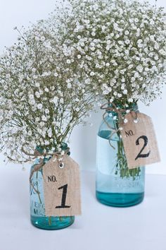 Burlap Table Number Tags 1-10, table number tags, wedding, party on Etsy, $30.00
