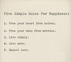 simple rules