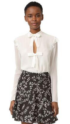 51cd1df3684af2 GIAMBATTISTA VALLI Tie Front Blouse.  giambattistavalli  cloth  dress  top   shirt