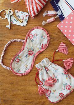 Sleep mask & pouch - free pattern @ Cath Kidston                                                                                                                                                                                 More